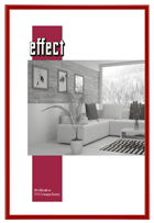 Kunststoff Bilderrahmen 50x100 Kunstglas antireflex Rot